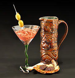 Photo illustration for Cocktails and Clay